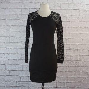 Parker Black Lace Cut Out Dress Small